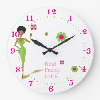 Real pretty Girls clock