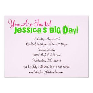 "Real Pretty Girls Life Invitation 5.5"" X 7.5"" Invitation Card"