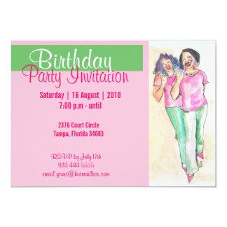 "Real Pretty Girls Sorority Girls Invitation 5"" X 7"" Invitation Card"