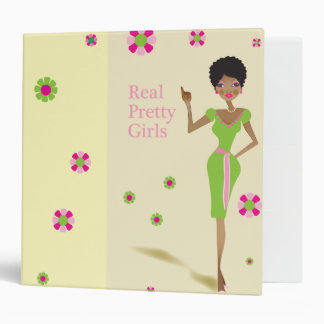 Real Pretty Pink and Green Life Binder