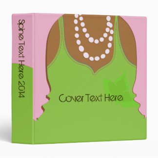 Real Pretty Pink and Green Sorority Life Binder