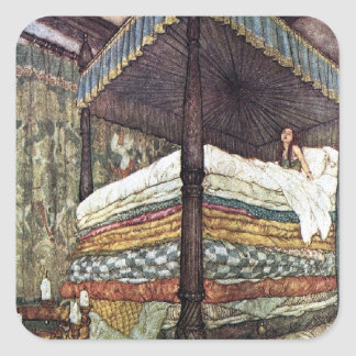 Real Princess by Edmund Dulac Square Sticker