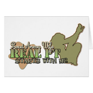 Real PT starts with me Stationery Note Card