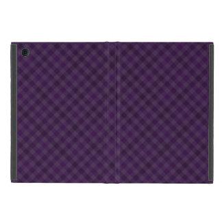 Real púrpura en tela escocesa iPad mini protectores