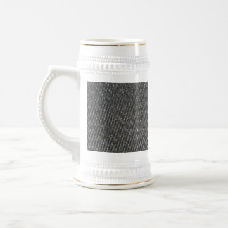 Real RAW Carbon Fiber Textured Beer Stein