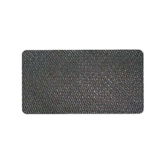 Real RAW Carbon Fiber Textured Label