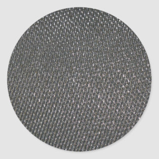 Real RAW Carbon Fiber Textured Classic Round Sticker