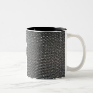 Real RAW Carbon Fiber Textured Two-Tone Coffee Mug