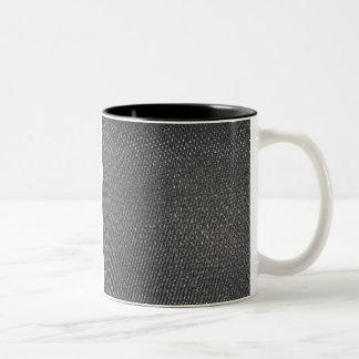 Real RAW Carbon Fiber Textured Two-Tone Coffee Mug