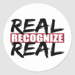 real recognize real stickers