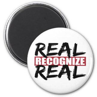 real reconozca real imán redondo 5 cm