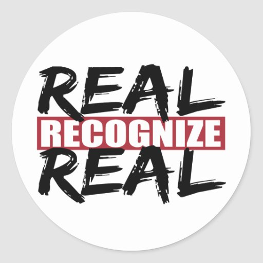 real reconozca real pegatina redonda