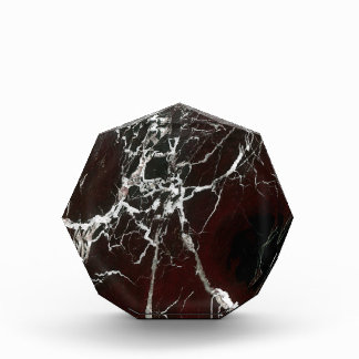 Real red marble award