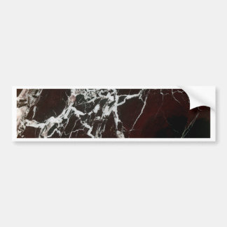 Real red marble bumper sticker