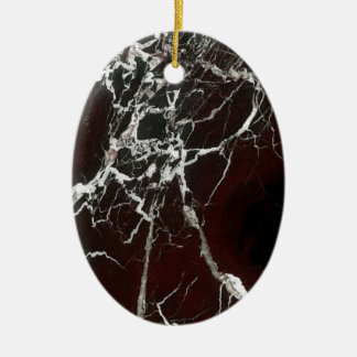 Real red marble ceramic ornament