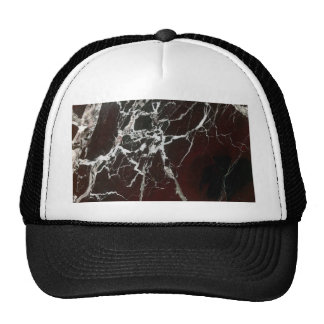 Real red marble trucker hat