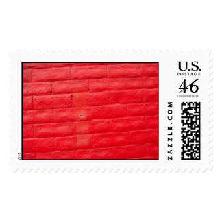 Real Red Postage Stamp