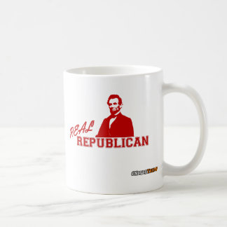 Real Republican, Lincoln, Never Trump Coffee Mug