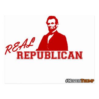 Real Republican, Lincoln, Never Trump Postcard