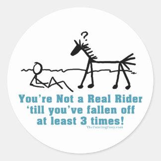 Real Rider Classic Round Sticker