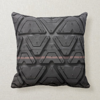 Real rubber tyre tread looking pattern close up throw pillow