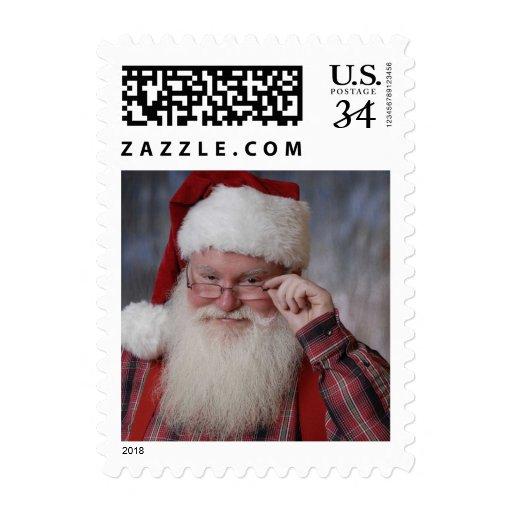Real Santa on Stamp for POSTCARD