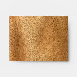 Real Sapele Veneer Woodgrain Envelope
