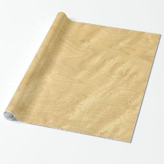Real Scanned Birds Eye Maple Veneer Woodgrain Wrapping Paper