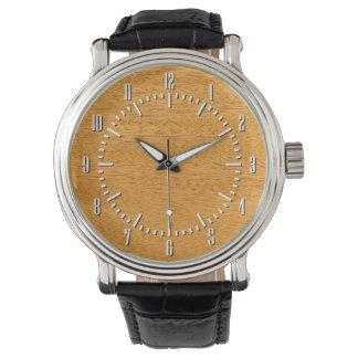 Real Scanned Brazilian Mahogany Veneer Woodgrain Wrist Watch