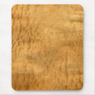 Real Scanned Pommele Sapele Veneer Woodgrain Mouse Pad