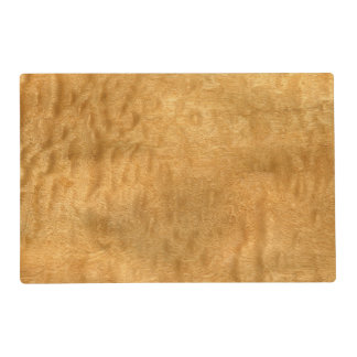 Real Scanned Pommele Sapele Veneer Woodgrain Laminated Placemat