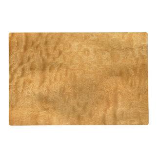 Real Scanned Pommele Sapele Veneer Woodgrain Placemat