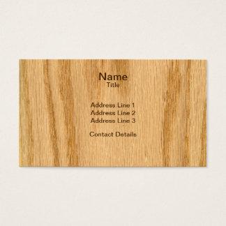 Real Scanned Red Oak Veneer Woodgrain Business Card