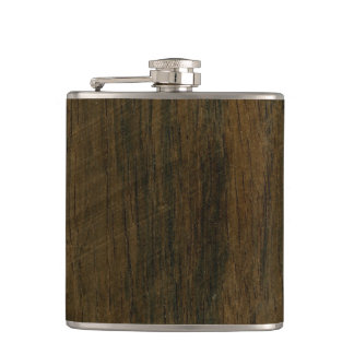 Real Scanned Wooden Veneer Rio Rosewood Palisander Flask
