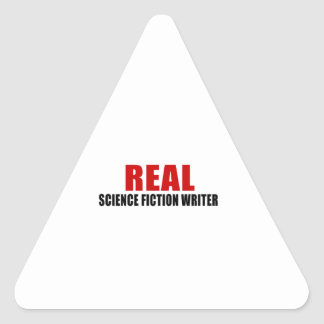 REAL SCIENCE FICTION WRITER TRIANGLE STICKER