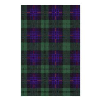 Real Scottish tartan - Armstrong - Drawn by Nekoni Stationery Paper