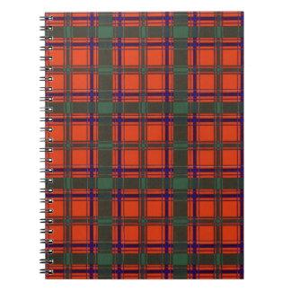 Real Scottish tartan - Dalzell - Drawn by Nekoni Spiral Notebook