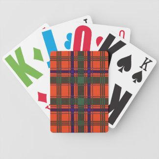 Real Scottish tartan - Munro Bicycle Playing Cards