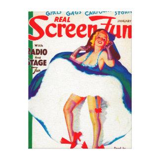 Real Screen Fun Magazine Cover Canvas Print