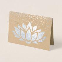 REAL silver foil lotus flower design Foil Card