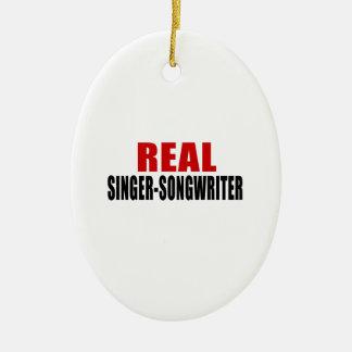 REAL SINGER-SONGWRITER CERAMIC ORNAMENT