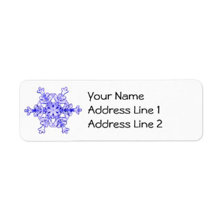 Real Snowflake Address Labels Sheet of 30