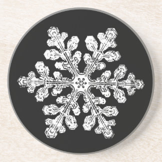 Real snowflake drink coaster