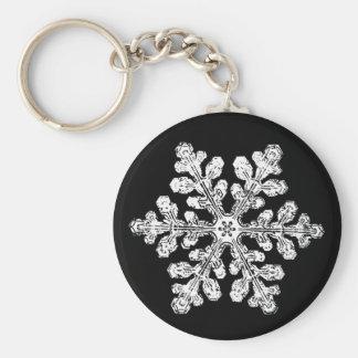 Real snowflake keychain