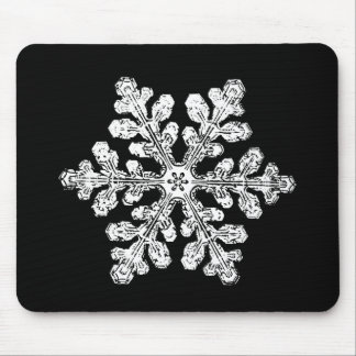 Real snowflake mouse pad