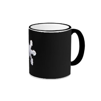 Real Snowflake Picture Ringer Coffee Mug