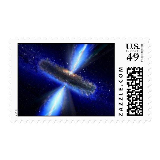 Real Super Massive Black Hole U.S. Postage Stamp