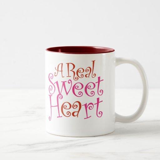 Real Sweet Heart Mug (Red - Pink), 15oz