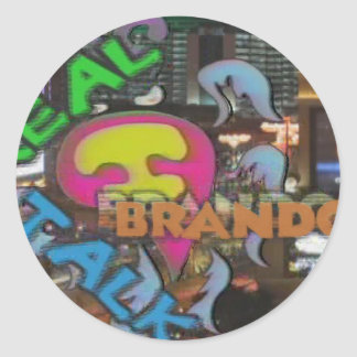 Real Talk With Brandon IN COLOR Classic Round Sticker