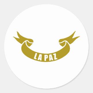 real-tape-La-Paz Classic Round Sticker
